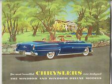 1953 SALES BROCHURE - CHRYSLER - WINDSOR & WINDSOR DELUXE MODELS