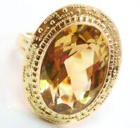 ♦♦ 14kt 14 kt 585 Goldring Citrin Zitrinring Citrinring Zitrin Damen Gold Ring ♦