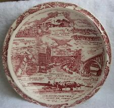 Vernon Kilns Spokane Washington plate~for the Crescent~Maroon~Gonzaga University