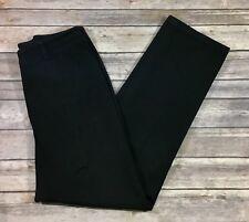 Ralph Lauren Womens Straight Leg Casual Pants 8 Black Cotton Blend Stretch 388
