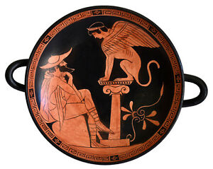 The Riddle of the Sphinx - Attic Kylix of the Painter of Oedipus Vatican Museum