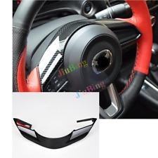 For MAZDA 3 Axela 2017 2018 Carbon Fiber Style Steering Wheel Control Cover Trim