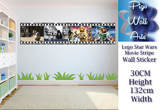 Lego Star Wars wall art sticker Children's Bedroom Film Stripe decal wall art.