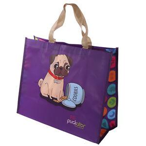 Kunststofftasche Shopper Shopping Bag Einkaufstasche Tasche Mops Hund