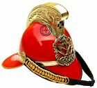 Firefighter British Red Firefighter Helmet Fire Fighter Officer's Chief