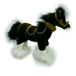 Bocchetta Clydesdale Horse in Harness Plush Soft Stuffed Toy Washed Clean 37cm
