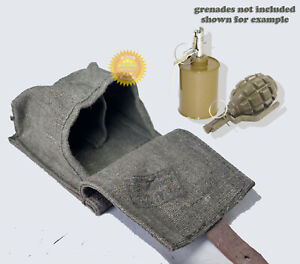 Two grenades pouch Russian Soviet Army WW2 F1/RG42 canvas stamped original