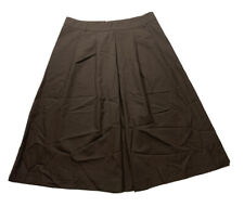 theory skirt size 8 brown