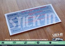 Autocollant Stickers Peugeot 104 205 305 309 504 GTI Liquide Refroidissement -15