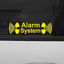 2 Stück Alarm System Auto Haus Fenster Scheibe Aufkleber Tattoo Folie gespiegelt