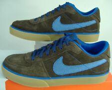 New Mens 10 NIKE Mavrk QS 6.0 Brasil Brown Blue Suede Shoes $60 433248-200
