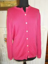 Pull long gilet boutons 100%  laine vierge rose fushia PETER HAHN 44FR 16uk 42d