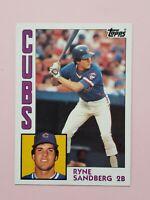 1984 Topps Set Break #596 Ryne Sandberg NM-MT OR BETTER Chicago Cubs HOF Card