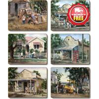 Cinnamon Times Now Past Cork Backed Coasters | Set of 6pcs