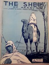 THE SHEIK OF ARABY  -1921 - NOT THE COVER WITH VALENTINO- ARABS WITH CAMELS