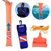 Portable Scuba Diving Surface Marker Buoy Kit With Storage Bag Signal Marker SA