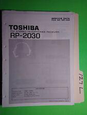 Toshiba rp-2030 service manual original repair book stereo headphone radio