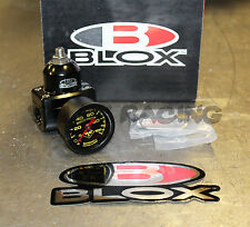Blox Racing Competition 3 Port Adjustable Fuel Pressure Regulator Black w/ Gauge