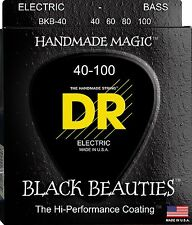DR BKB-40 BLACK BEAUTIES COATED BASS STRINGS, LIGHT GAUGE 4's  40-100