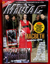 Metal Maniac Italy Mag LACUNA COIL MACBETH MOONKINGS - DREAM THEATER HEAVY METAL