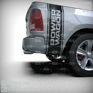 Fits DODGE RAM Vinyl Decal Stripe 3M Power Wagon Racing CHROME Sticker 037A