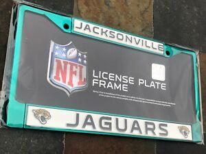 1 Jacksonville Jaguars Aqua Colored - Metal Vehicle License Plate Frame