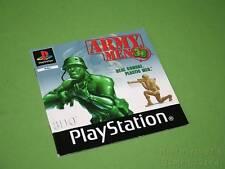 Playstation PS1 Instruction Manual - Army Men 3D *No Game*