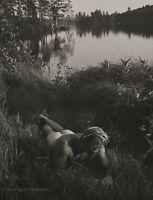 1988 Vintage BRUCE WEBER Outdoor Male Nude TYKE Lake Grass Shore Photo Art 12X16