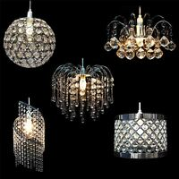Modern Ceiling Chandelier Pendant Light Lamp Shade Shades Acrylic Crystal Drop