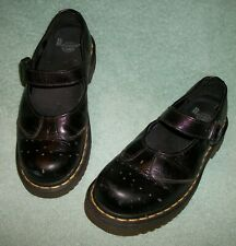 Dr Martens 1B66 Womens Size US 6 Black Mary Jane Chunky Single Strap Shoes