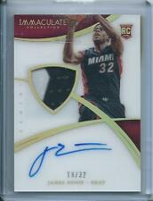 2014-15 Panini Immaculate James Ennis Auto Patch RC RPA Rookie Acetate /32 Miami