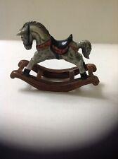 Miniature Rocking Horse Pottery Figure,Dolls House Furniture