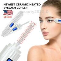 Electric Heated Eyelash Curler Pen LCD 360° Curling Long Lasting Eye Lashes Tool