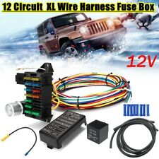 12 Circuit Universal Wiring Harness 14 Fuse Muscle Car Hot Rod Street XL  Wires