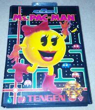 Ms. Pac-Man CIB (Sega Genesis Game) Mrs. Miss Pacman Complete