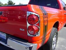 DODGE RAM TRUCK 2007 - 2008 TFP ABS CHROME TAIL LIGHT COVER SET - 318G