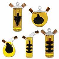 Olive Oil and Vinegar Glass Dispenser Pourer Bottles