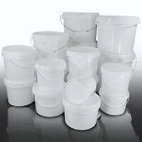 Plastic Buckets Tubs Containers with Tamper Evident Lids 1L 2L 3L 5L 8L 10L