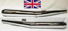 Par DE SILENCIADORES DE ESCAPE BMW Cromado 1970 en adelante R60/6/7 R75/6/7 R80/7 R100/7 R100
