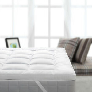"""2"""" Thick Bamboo Filled Mattress Toppers w/Anchor Bands"""