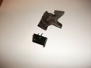 Antique Cabinet Catch Elbow Latch Cast Iron w/spring steel keeper+attach. hrdwre