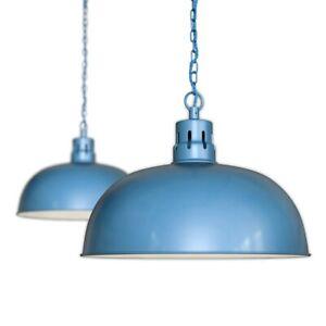 Aston Blue Rustic Dome Dining Room Pendant Light - Berwick - Soho Lighting