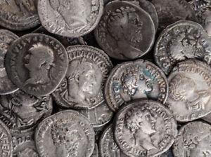 ONE QUALITY RANDOM ANCIENT ROMAN SILVER DENARIUS COIN - 1500+ YEARS OLD