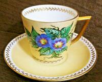 Vintage Espresso Cup-Royal Copenhagen-Denmark 1940-50's-Morning Glory-Signed