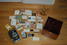Vintage Polaroid Land Camera Model 150 and Deluxe Compartment Case & Directions