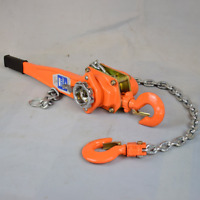 Chain Lever Block Hoist Come Along 2-Hook Ratchet Lift 1.5 Ton 3300lb HOT!
