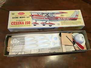 Guillows Cessna 150 Balsa and mixed media Flying model Kit No.309. 24 inch wings