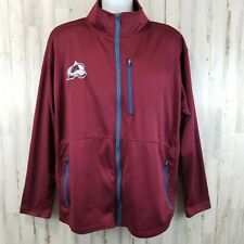 NHL Mens Jacket XL Red Colorado Avalanche Three Pocket Full Zip