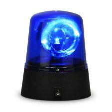 Rotating Blue LED Police Car Beacon Disco Party DJ Light Lamp Rave Strobe Siren