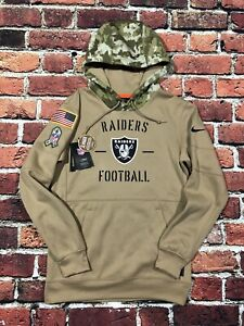 Authentic Raiders Official Nike On Field Small Hoodie Sweater Salute to Service
